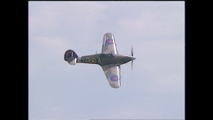 Calgary's Hawker Hurricane will be on display during National Aviation Day at the Hangar Flight Museum.