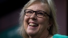 Green Party leader Elizabeth May speaks during a news conference in Ottawa, Monday, November 4, 2019. May announced she would step down as the party leader. THE CANADIAN PRESS/Adrian Wyld