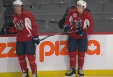Moose rookies Johnathan Kovacevic and Leon Gawanke