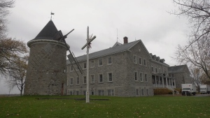 The historic windmill in Pointe-Claire was damaged during a rain, wind storm.