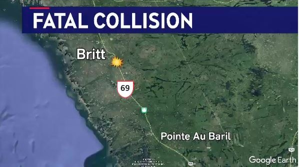 fatal collision near Britt, Ont.