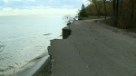 Alarming erosion at Wheatley Provincial Park