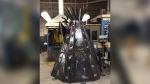 Students at R.B. Russell Vocational High School have created a metal teepee and turtle to help them learn about Indigenous culture. (Photos: Jamie Dowsett/CTV News)