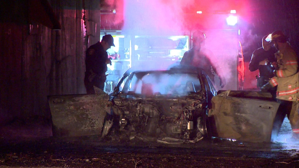Car set on fire in Pointe-aux-Trembles