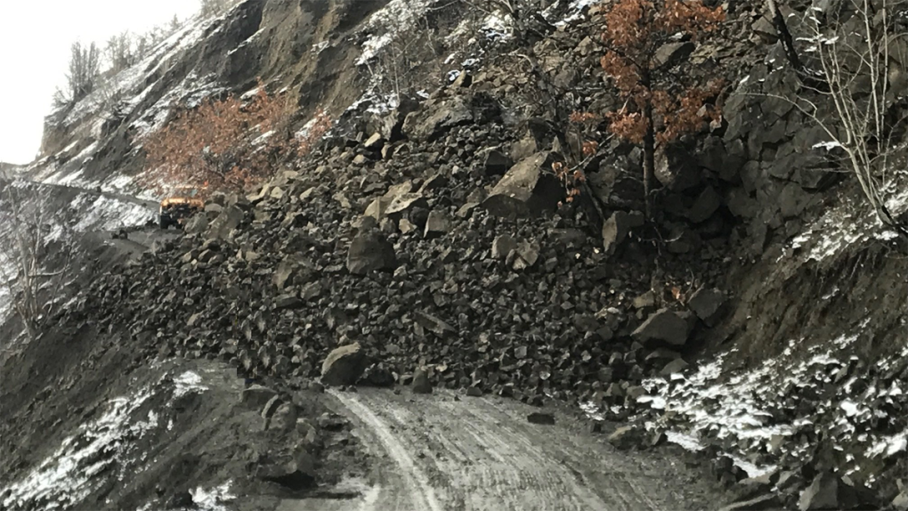Rock slide on Hwy 51