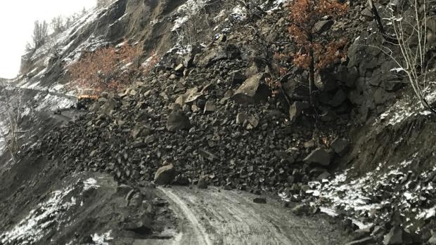 Rock slide on Hwy 51