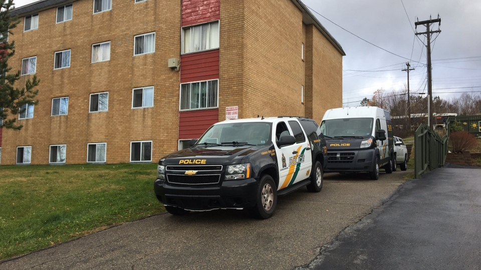 Cape Breton Regional Police respond to a suspicious death at an apartment in Sydney in November 2019.
