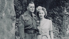Arthur and Margaret Houghton are pictured on their wedding day, Sept. 1, 1945.