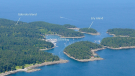 Lily Island is shown in a labelled image posted on UniqueProperties.ca