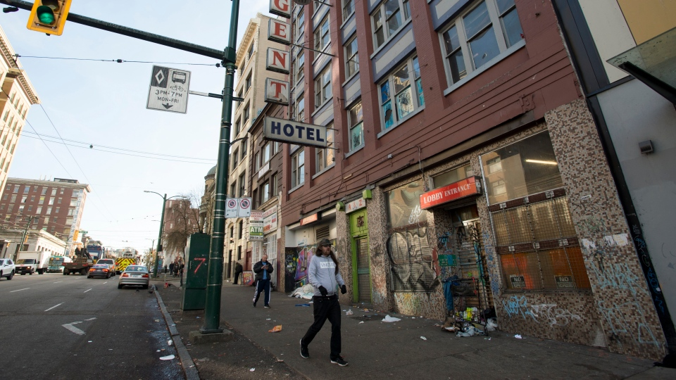 Regent hotel in Vancouver's downtown eastside