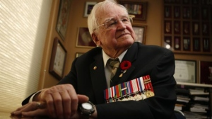 World War II veteran Tony Pearson, 94, was a young man from Saskatchewan on the frontline of combat in late September 1944 during the Battle of the Scheldt as they pressed the Nazis back east from France. CHAD HIPOLITO / THE CANADIAN PRESS