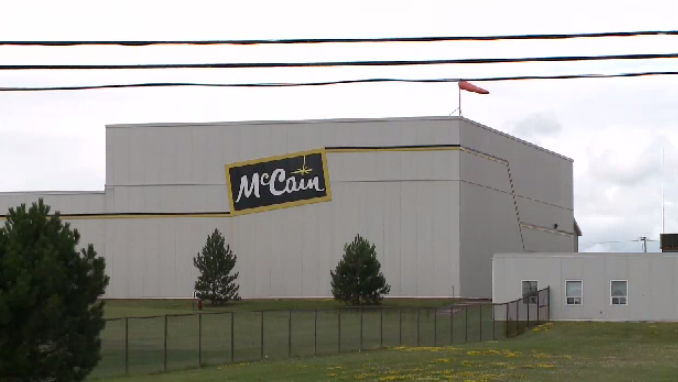 A McCain Foods plant is seen in New Brunswick in this file photo.