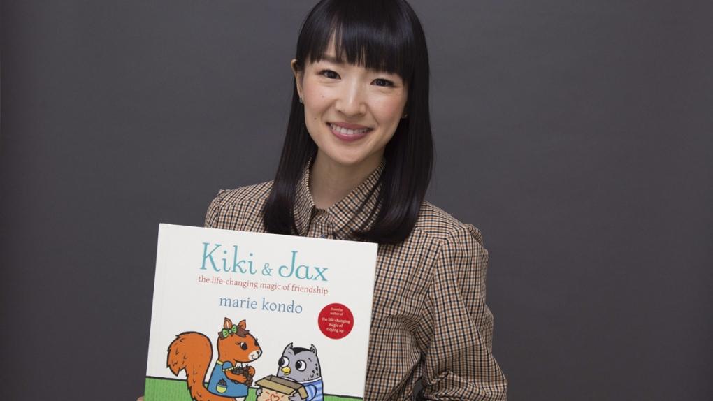 Marie Kondo with her children's book