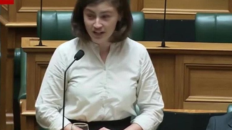 A 25-year-old New Zealand's MP was giving a speech in support of the Zero Carbon Bill, when she shut down a heckler with the phrase, 'OK, boomer.' (New Zealand Parliament)