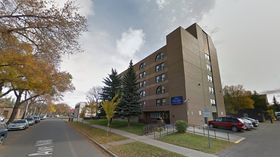 Police say Hamelin broke into Micieli's suite at this downtown Edmonton seniors home.