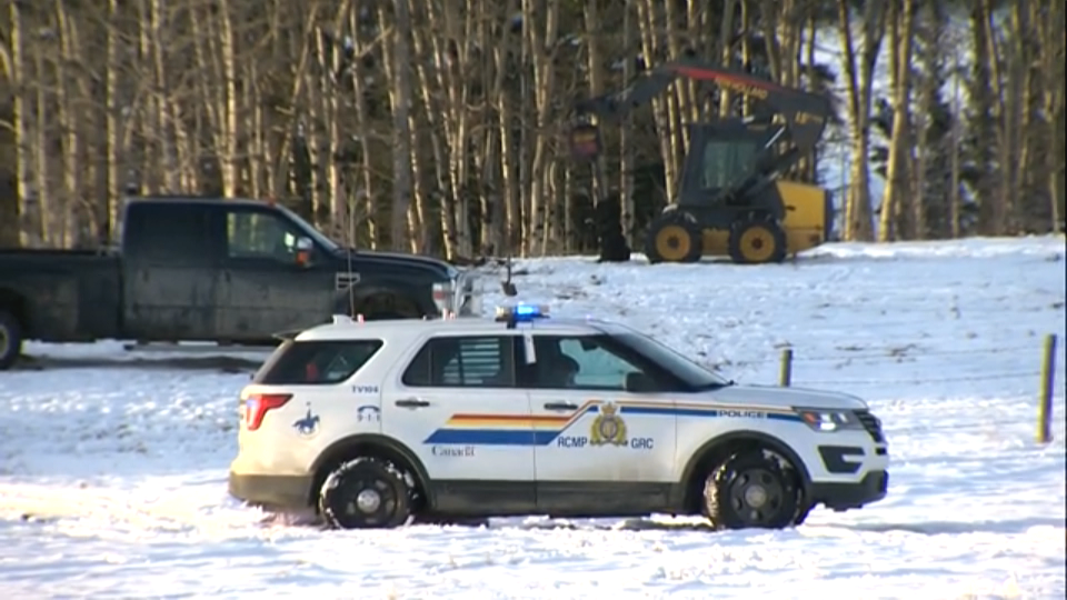 RCMP say the man was digging and ruptured the gas line.