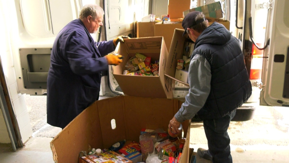 Volunteers with the Veterans Association Food Bank are largely veterans themselves and share a common experience with the former servicemen and women who receive donations.