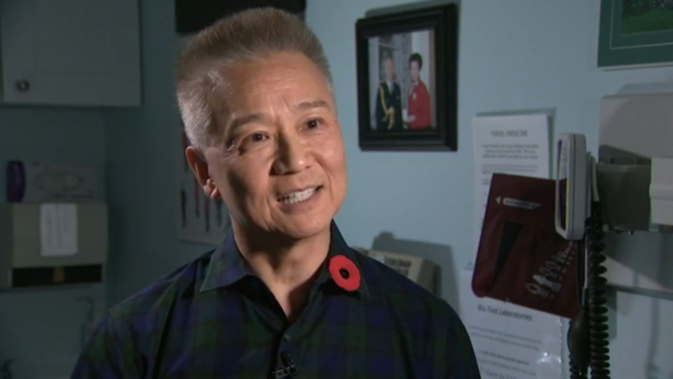 Former surgeon general Dr. Hans Jung retired years ago from military service but still answers a call of duty at his Orleans, Ont., clinic, where he treats exclusively veterans. (CTV)