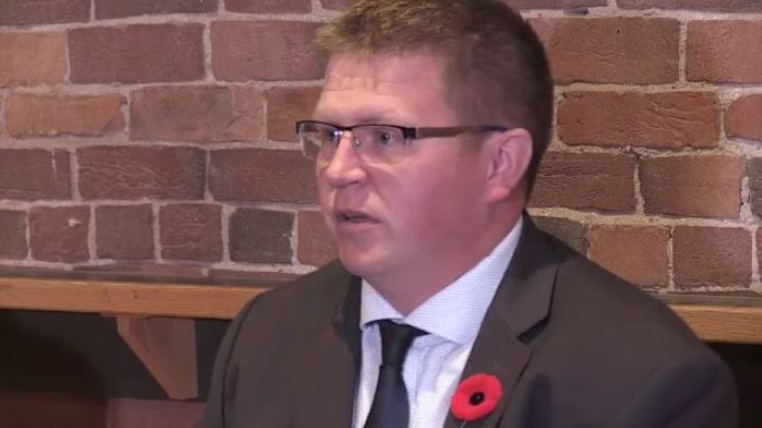 """""""His comments, I believe are very self-serving, and they have no merit and there needs to be a repercussion for him, speaking out this way,"""" Saint John Police Union president Duane Squires said."""