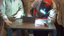Welding, welder, skilled trades, student