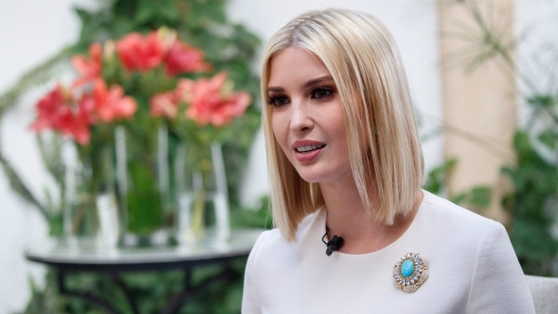 Ivanka Trump, the daughter and senior adviser to U.S. President Donald Trump, is interviewed by the Associated Press, Friday, Nov. 8, 2019, in Rabat, Morocco. (AP Photo/Jacquelyn Martin)