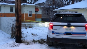 Police are investigating after a man was found dead in the 1800 block of St. John Street on Nov. 7, 2019 (Ashley Scarfe / CTV News Regina)