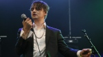 Pete Doherty performs on stage during a concert in Paris, May 4, 2017. (Francois Mori / AP)