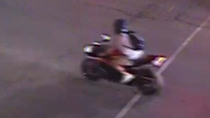 Montreal police tried to pull the motorcyclist over, but he took off at full speed.