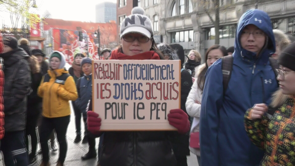 Students protest CAQ immigration policy reform