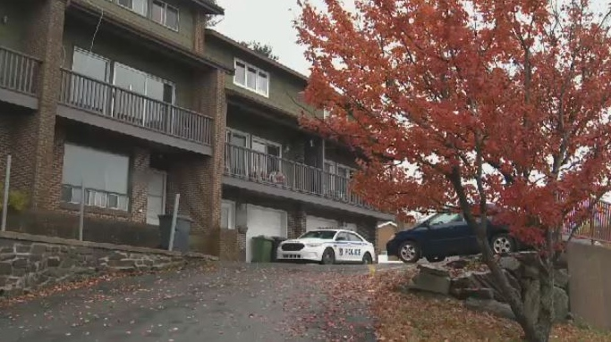Halifax Regional Police respond to a residence on Bedford Highway on Nov. 2, 2018.