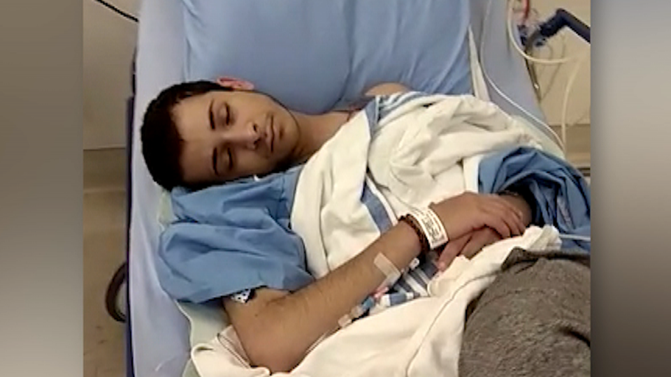 Teen hospitalized after taking drugs, father says