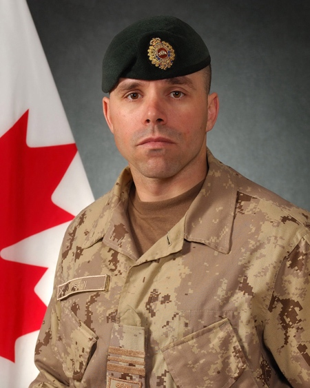 Maj. Yannick Pepin is shown in this undated handout photo. Two Canadian soldiers Pepin, 36 and Cpl. Jean-Francois Drouin, 21, were killed by roadside bomb blast in Afghanistan on Sept. 6, 2009. (Department of National Defence)