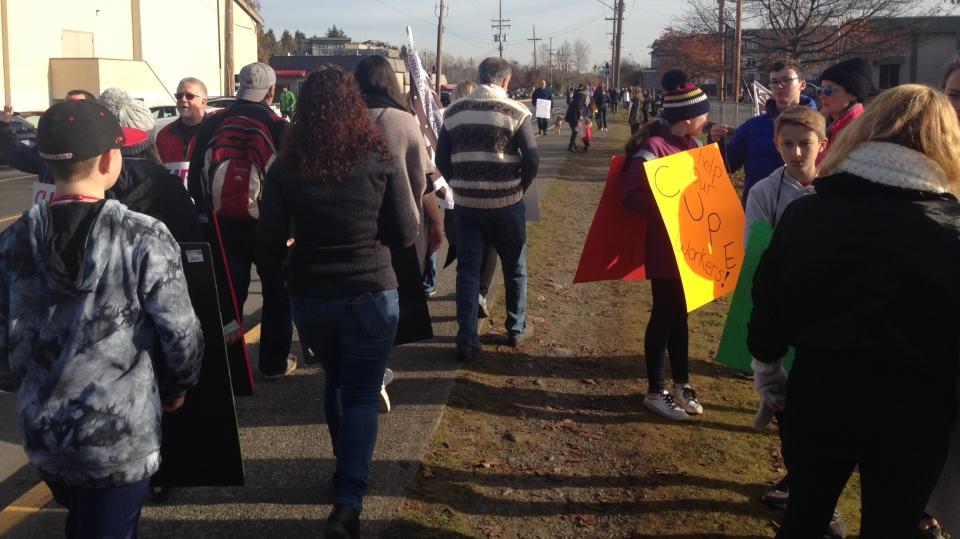 Saanich school strike