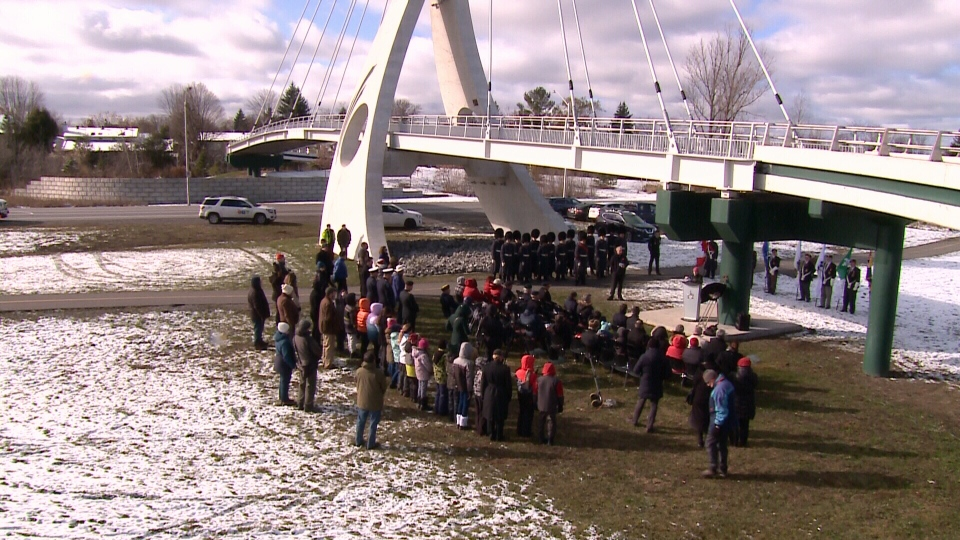 Ceremony for Juno Beach Memorial Bridge
