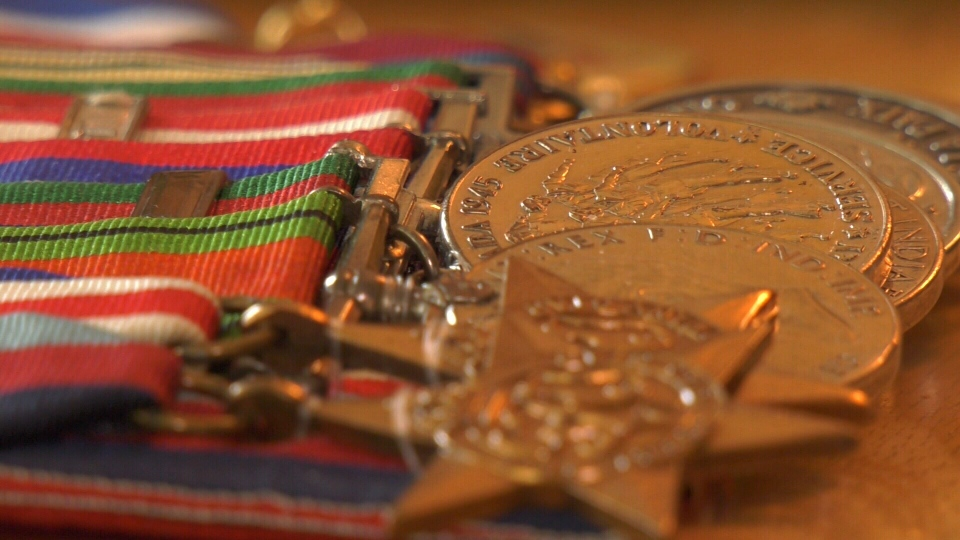 Gnr. Robert Dennett earned these medals during the Second World War. (CTV Vancouver Island)
