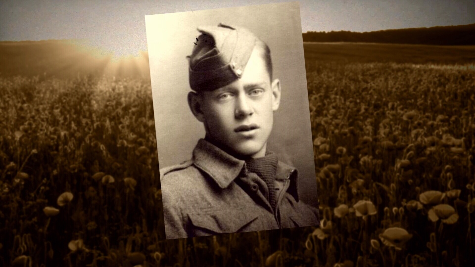 A young Dennett in his Canadian Army portrait taken in Scotland. (CTV Vancouver Island)