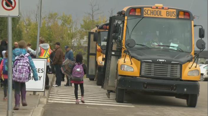 Red Deer, school, school bus, students