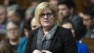 Public Services and Procurement Minister Carla Qualtrough responds to a question during Question Period in the House of Commons Tuesday, February 26, 2019 in Ottawa. THE CANADIAN PRESS/Adrian Wyld