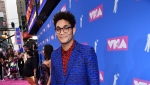 Bryce Vine arrives at the MTV Video Music Awards at Radio City Music Hall on Monday, Aug. 20, 2018, in New York. (Photo by Charles Sykes/Invision/AP)