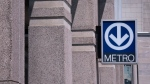 A Montreal metro sign. (File: THE CANADIAN PRESS/Paul Chiasson)