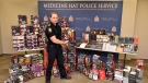 Medicine Hat police seized over $30,000 of merchandise they say was taken from several big box retailers in southern Alberta and southwestern Saskatchewan. (Supplied)