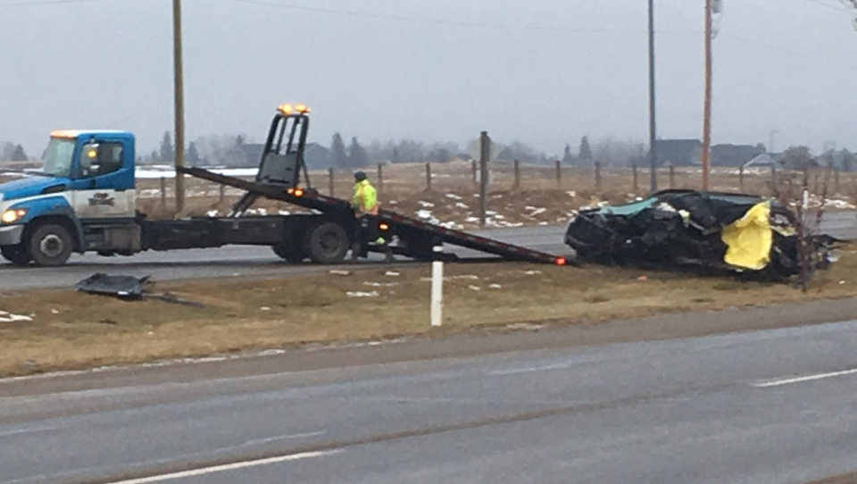 Police tell CTV News at least one person has died in a rollover crash north of Okotoks Saturday morning.
