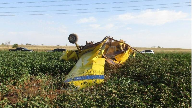 A pilot in Texas crashed a plane during an elaborate gender reveal stunt. (FAA via CNN)
