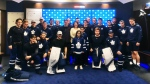 Kade Foster was given the birthday present of a lifetime when he got to meet his hockey heroes. (Twitter / @MapleLeafs)