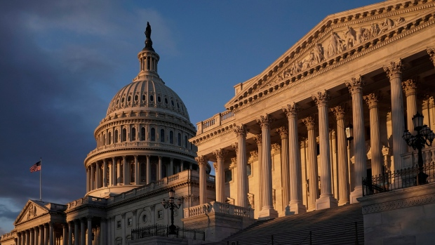 FILE - The Capitol is seen in Washington, early Friday, Nov. 8, 2019. (AP Photo/J. Scott Applewhite)