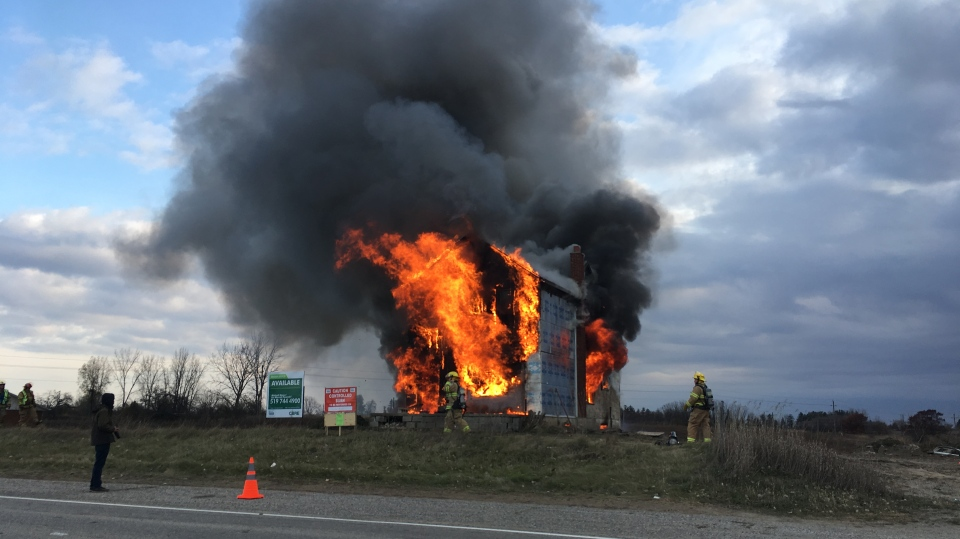Brant County firefighters practiced their skills in a controlled burn on Saturday, Nov. 9, 2019.