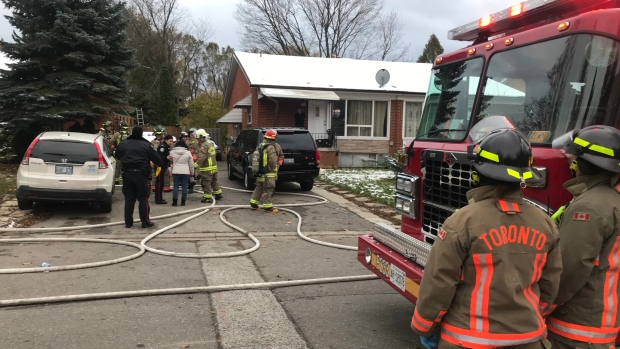 Woman and child fighting for life after North York house fire - CTV News