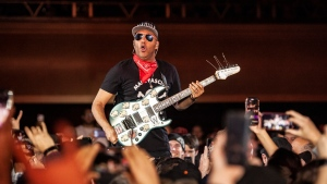Tom Morello played an intense solo show at the Commodore Ballroom Friday night covering tracks from throughout his career. The sold-out crowd was treated to songs from The Night Watchmen, Audioslave and, of course, Rage Against the Machine, which recently announced a reunion tour. As loud as the concert got, the most memorable moment for many will be the somber, acoustic tribute to Morello's friend and former Audioslave bandmate Chris Cornell. Photos by Anil Sharma/CTV News Vancouver