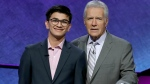 """Avi Gupta won the 2019 """"Jeopardy!"""" teen tournament in June. He said Trebek is someone he's always looked up to. (CNN via Jeopardy Productions Inc)"""