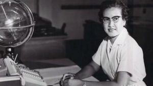 NASA mathematician Katherine Johnson was one of the black women to have made spaceflights possible for U.S. crews. (CNN via Sean Smith/NASA)